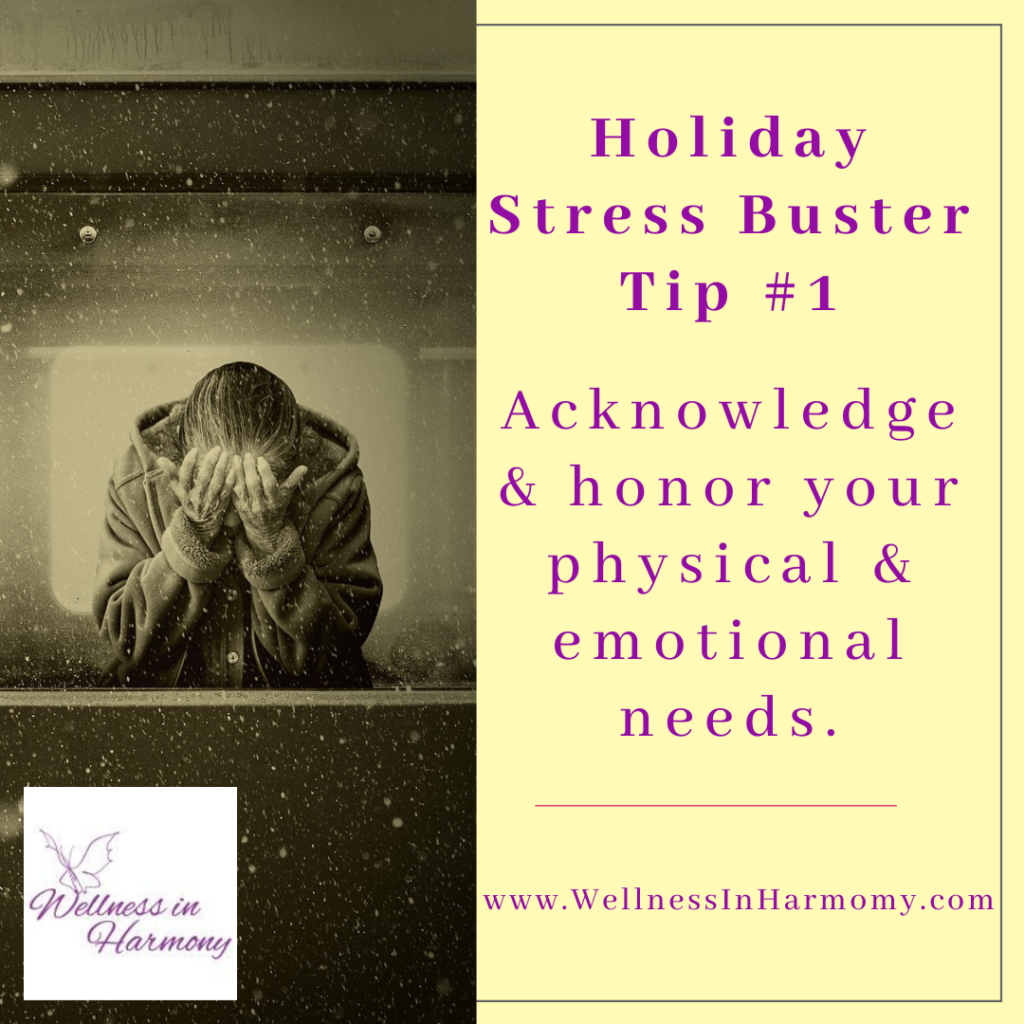 acknowledge your need to reduce stress