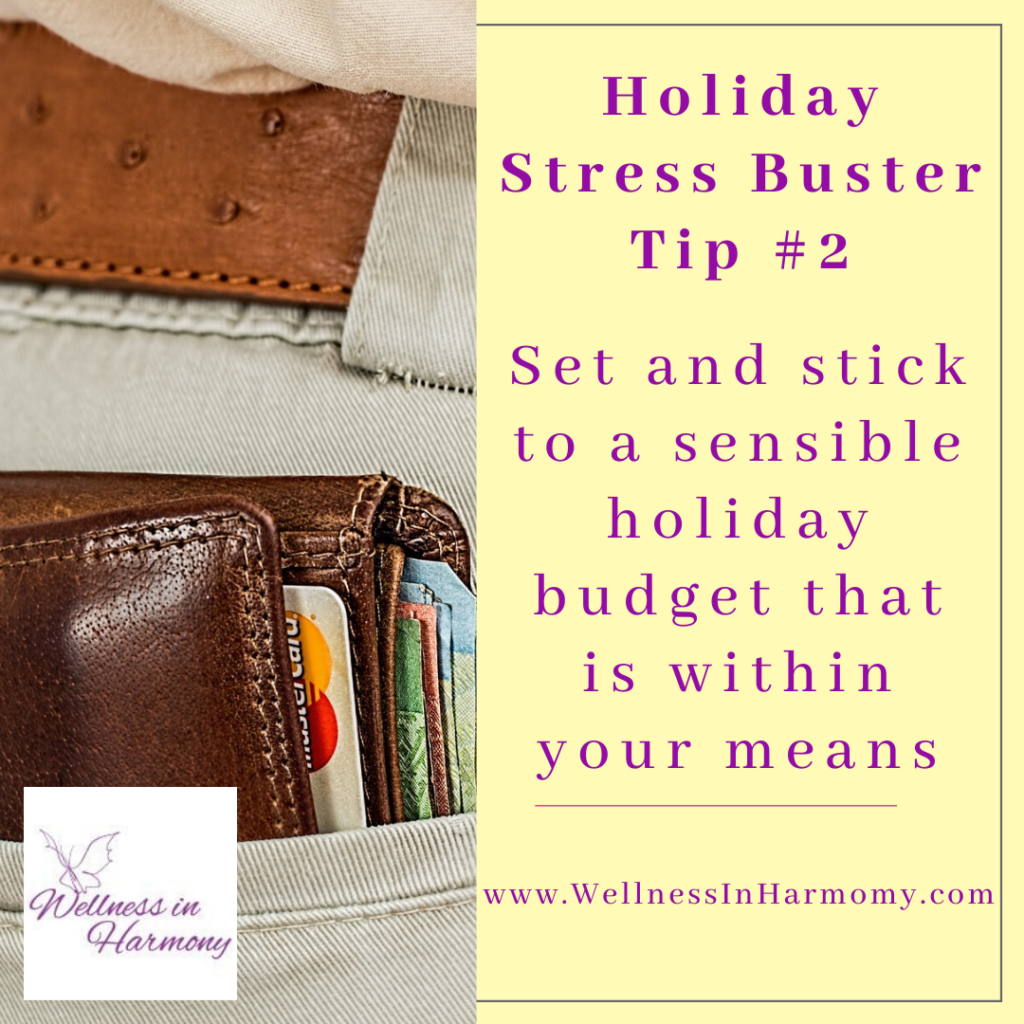 minimize holiday stress by sticking to a budget