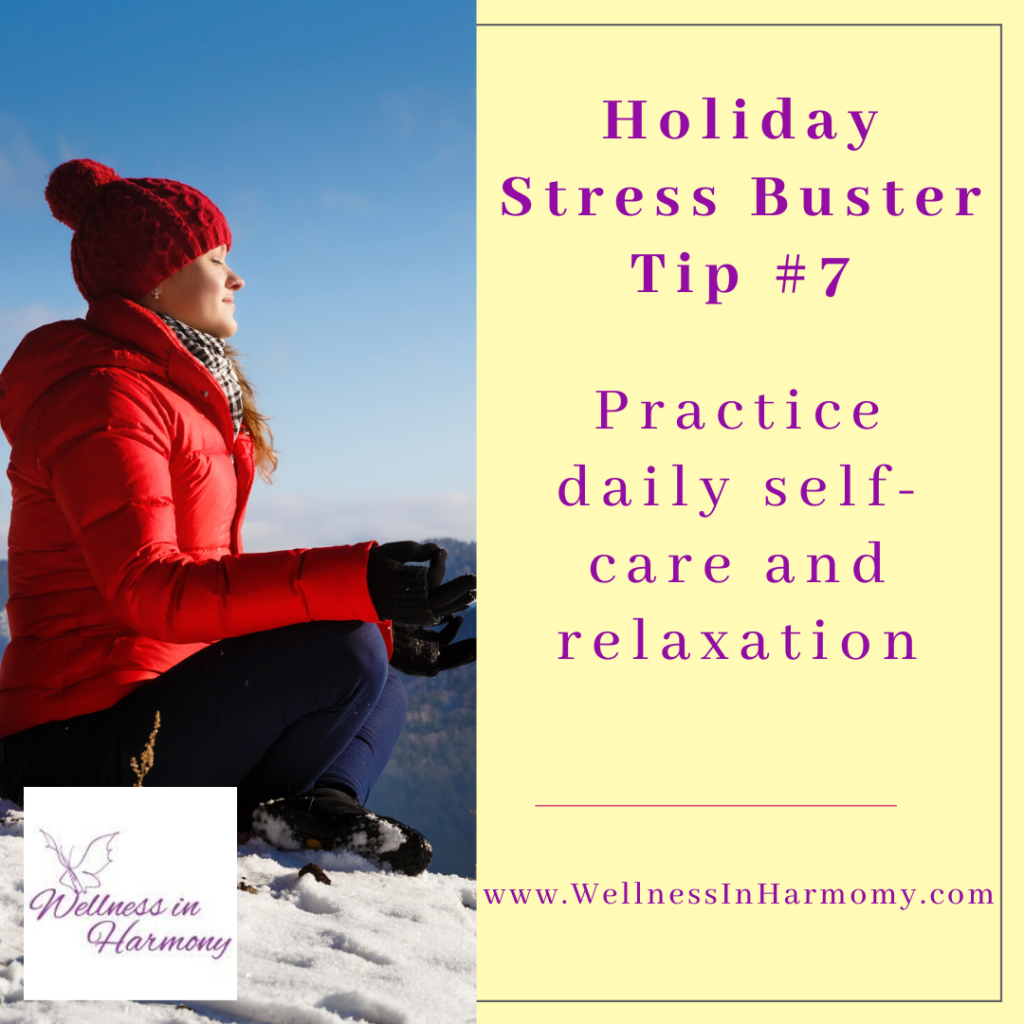 reduce anxiety and stress through daily self care