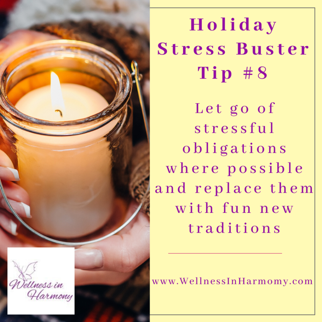beat holiday stress by getting rid of stressful obligations and create new traditions